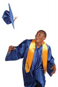 Student Graduate Throwing Cap
